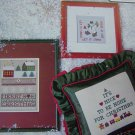 Let It Snow Vintage Victoria's Garden Cross Stitch Patterns Merry Home For Christmas Sampler