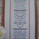 VTG Cross Stitch Pattern Pastel Palette Sampler & Boudoir Box Sweetheart Tree