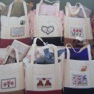 6 Vintage Cross Stitch Patterns Classic Carry All Tote Bags Jean Farish # 40