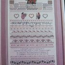 1980's Vintage Cross Stitch Pattern Shepherd's Bush Earth Song Sampler Chart