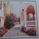 Vintage Cross Stitch Pattern South Battery View Villa Landscape Village # 12