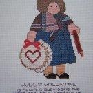 Vintage Cross Stitch Patterns Lizzie High Juliet Valentine Girl With Heart Hoop