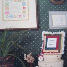 1980s Vintage Cross Stitch Patterns Samplers Sewing Machine Theme Old Treadle # 6