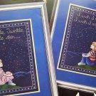 Vintage Cross Stitch Patterns Twinkle Little Star & I Wish I May I Wish I Might Nursery Rhyme