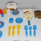 Fisher Price Vintage Kitchen Dishes And Accessories Part 2