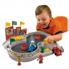 Spin 'n Crash Raceway Sounds Fisher Price Little People Bendable Racing Race Car