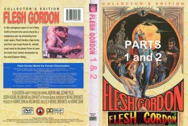 Flesh Gordon & Cosmic Cheerleaders. 2 DVD set. Used.