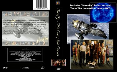 FIREFLY Series & SERENITY Collector's Ed. + BONUS. 7 DVD box set. Used