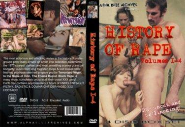 History Of Rape - 4 DVD set. Alpha Blue Archives