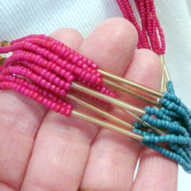 Necklace / Multiple Strands of Colorfull Sead Beads @VillageBeadShop
