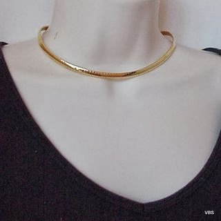 Gold Omega Fashion Necklace Excellent Quality @VillageBeadShop