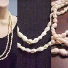 "53"" White Nutmeg Shells Necklace or for Crafts @VillageBeadShop"