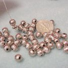 Corrugated 6mm Round Bead Silver Fluted Beads Jewelry and Beading Supplies, DIY