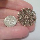 4 pc. Antique Bronze Filigree Wraps Connector 25mm Crafts Jewelry Supplies and Bead Supplies DIY