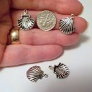 Sea Shell Charms 18mm x 15mm Antique Silver Nautical Beach Jewelry Supplies, Beading Supplies, DIY