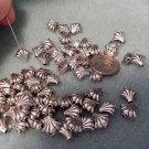 Silver Metal Fan Beads Small Components 9mm Jewelry Supplies, Beading Supplies, DIY