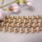 Spacer Beads 8mm Gold Plated Lanturn Metal Jewelry Supplies, Beading Supplies, DIY