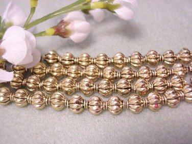 Gold Plated Lanturn Metal Spacer Beads 8mm Jewelry Supplies, Beading Supplies, DIY