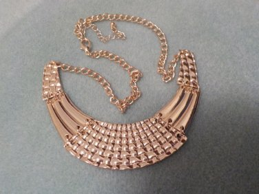 "Shiny Gold Bib Necklace Adjustable Lenght up to 24"" @VillageBeadShop"