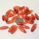 "RICE BEADS Oval 6MM X 19MM l ""Root Beer"" Plastic Beads  Jewelry Supplies, Beading Supplies, DIY"