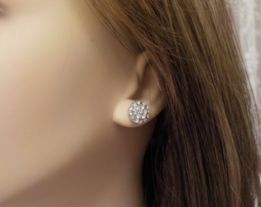 Sparkly Anne Klein Crystal Stud Earrings with Gift Box @VillageBeadShop