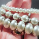 "PEARL BRACELETS APPOX. 7 1/4"" /MULTI STRETCH BRACELTS @VILLAGEBEADSHOP"