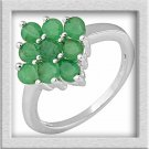 1.65ctw Genuine Emerald Ring Made in 925 Sterling Silver