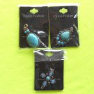 3 (three) Natural Turquoise Pendants - Brand New with Tags!