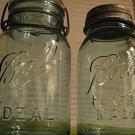 Pair of Ball Blue Glass Mason Jars