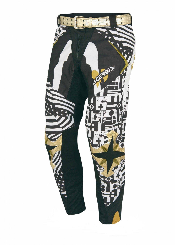 Acerbis Skeleton Motocross Pants with Gold Belt Size 30