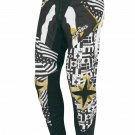 Acerbis Skeleton Motocross Pants with Gold Belt Size 30
