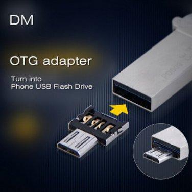 DM USB to Micro USB Male OTG Adapter