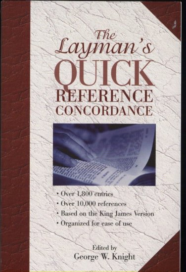 The Layman's Quick Reference Concordance