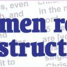 """Real Men Read the Instructions"" Bumper Sticker"