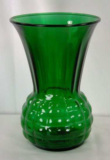 Pineapple Forest Green Vase