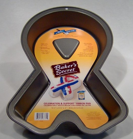 Baker's Secret Celebration and Support Ribbon Pan