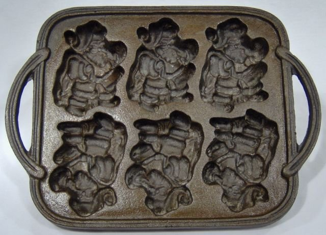 Cast Iron Santa Claus Cookie Mold