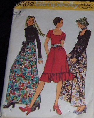 Simplicity 9602 published 1971, Vintage Sewing Pattern