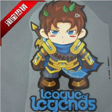 league of legends heat transfer sticker stick on T-shirt sticker