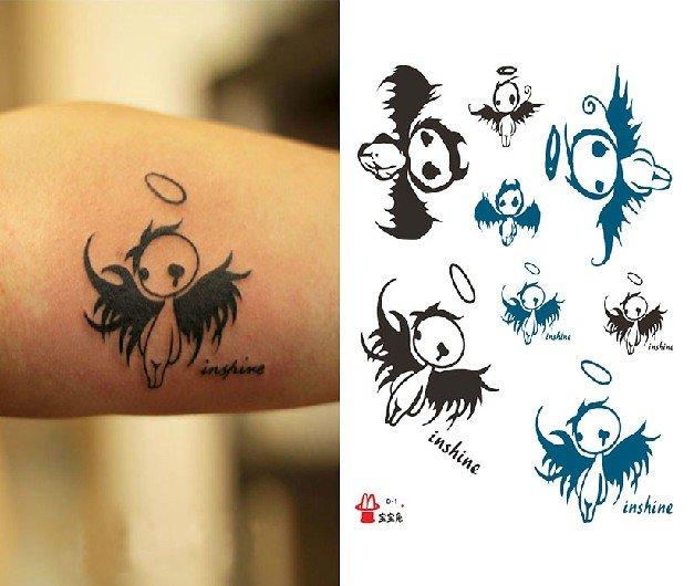 Elf Angel temporary tattoo, fake tattoo sticker