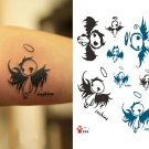 Elf Angel temporary tattoo, fake tattoo sticker