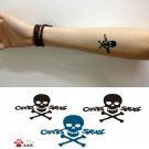 Skull temporary tattoo, fake tattoo sticker