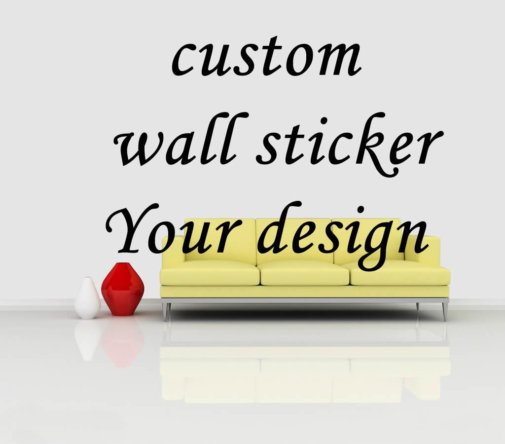 Custom Wall decal, no printing wall tattoo type decor
