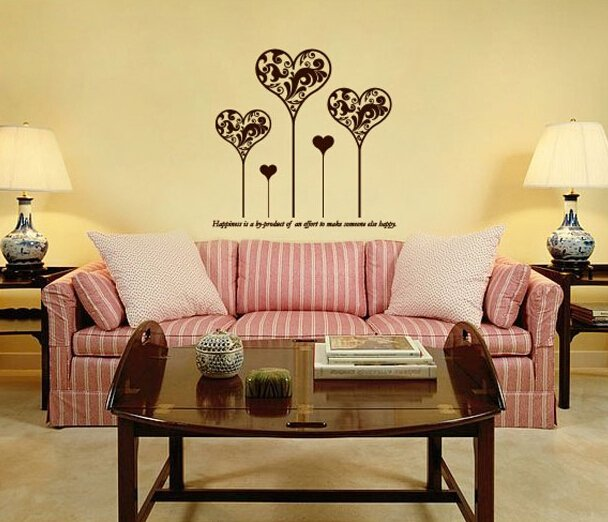 Wall stickers romantic festive bedside wall stickers entranceway dayly