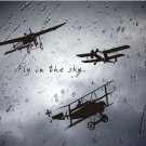 Fly in the sky plane Wall Sticker