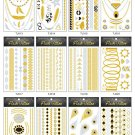 Whole sale Metallic gold foil tattoo 100sheets