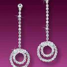 Double Circle Rhinestone Earrings