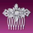 Equisite Large Marquise Rhinestone Hair Comb