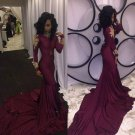 Burgandy Sleeveless Prom Dress