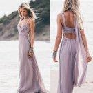 Elegant Sleeveless Zipper Chiffon Prom Dress
